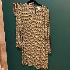 Long sleeve h and m shift dress